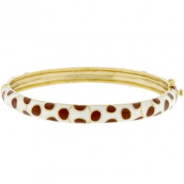 Spotted Goldtone Bangle