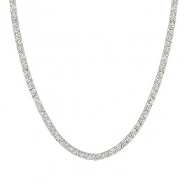 Remembrance Necklace with Pronged Trillion Cut Clear CZ in Silver Tone