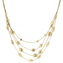 Circle of Beauty Necklace with Circle Charms in Gold Tone