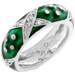 Boogie Down Forest Green Enamel Ring