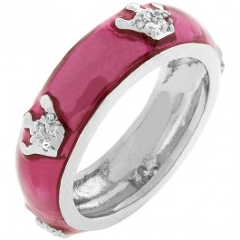 Fuschia Queen Enamel Ring