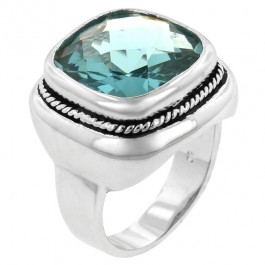 Aqua Fashion Ring