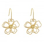 14k Gold Peace Flower